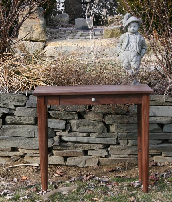 DT010  Hardwood Small Desk, 1 Inset Drawer, optional sizes available - natural color by SolidCherryHeirlooms