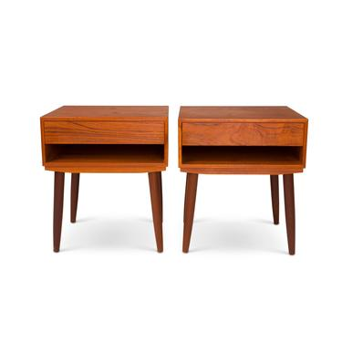 Vintage Danish Mid-Century Teak Nightstands/ Side Tables (Pair) by MCMSanFrancisco