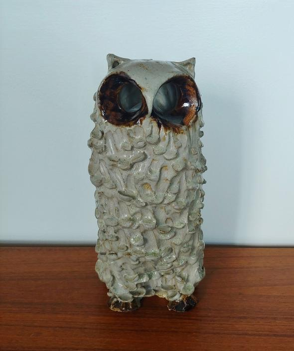 Studio Pottery Owl Sculpture by Sigrid Sander Biow by ModandOzzie