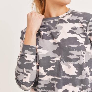 Twilight Grey/Pink Camo Pullover