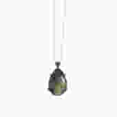 Labradorite Pear Pendant Necklace