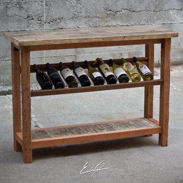 Reclaimed Wood Wine Hutch by EvansWoodshopDesign