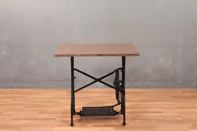 Granite & Iron Console Table