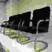 Post Modern Milo Baughman Style Cantilever Chairs