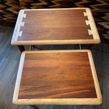 Rare Mid Century Lane Acclaim Nesting Side Tables by DesertCactusVintage