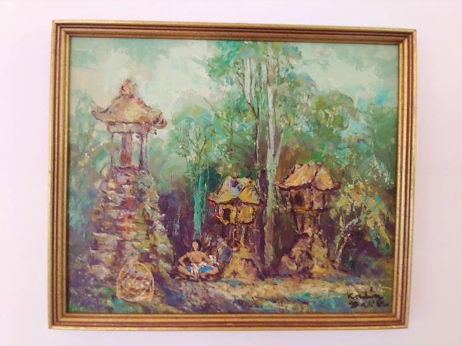 Original Polynesian Style Painting c. 1986 by ModandOzzie