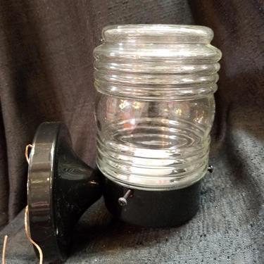 Clear Mason Jar Flush Mount Light