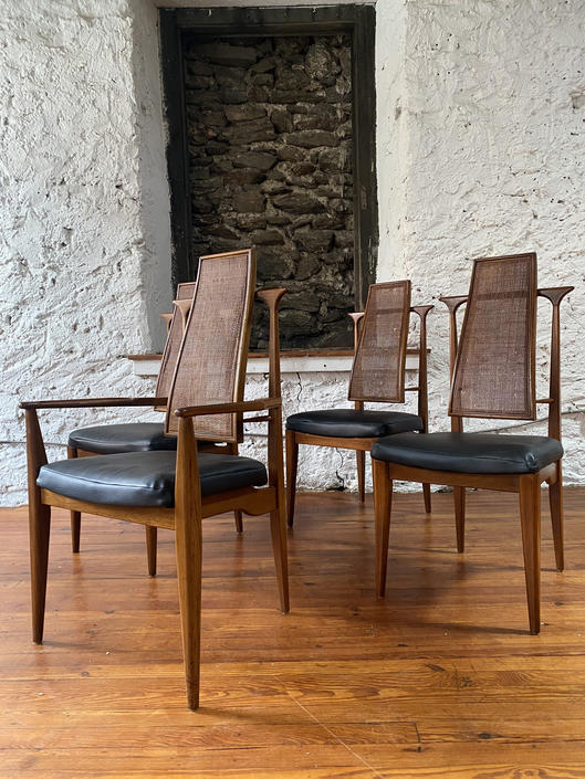 Mid century dining chair Danish caned back dining chair mid century modern dining set by VintaDelphia