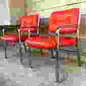 Pair of Milo Baughman Style Chairs by Chromcraft