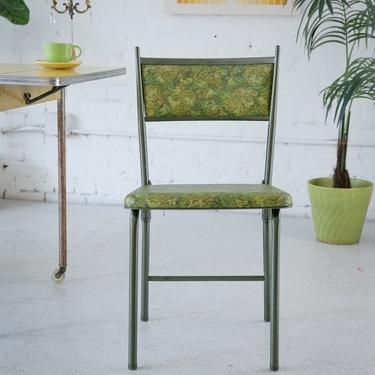 Olive Green Flower Chair