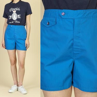 60s Jantzen Cotton Swim Shorts - Men's Medium, 34   Vintage Unisex Retro Blue Swimming Trunks by FlyingAppleVintage