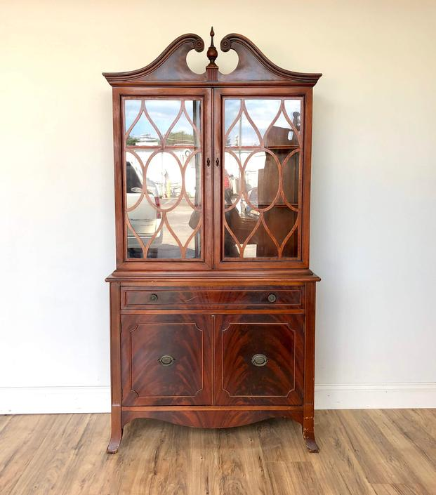 Antique China Cabinet by VintageHipDecor