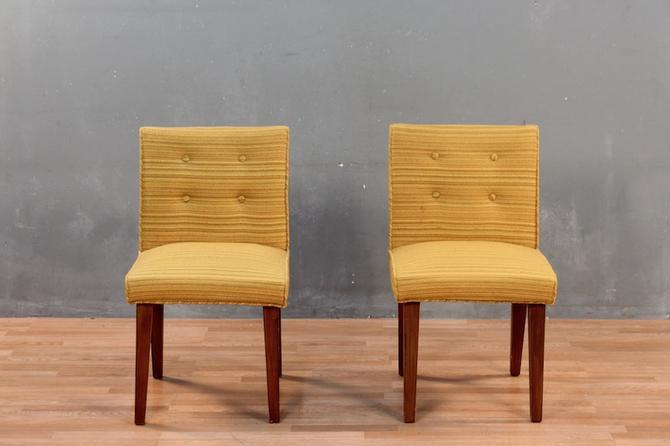 Mid Century Citrus Striped Accent Chair