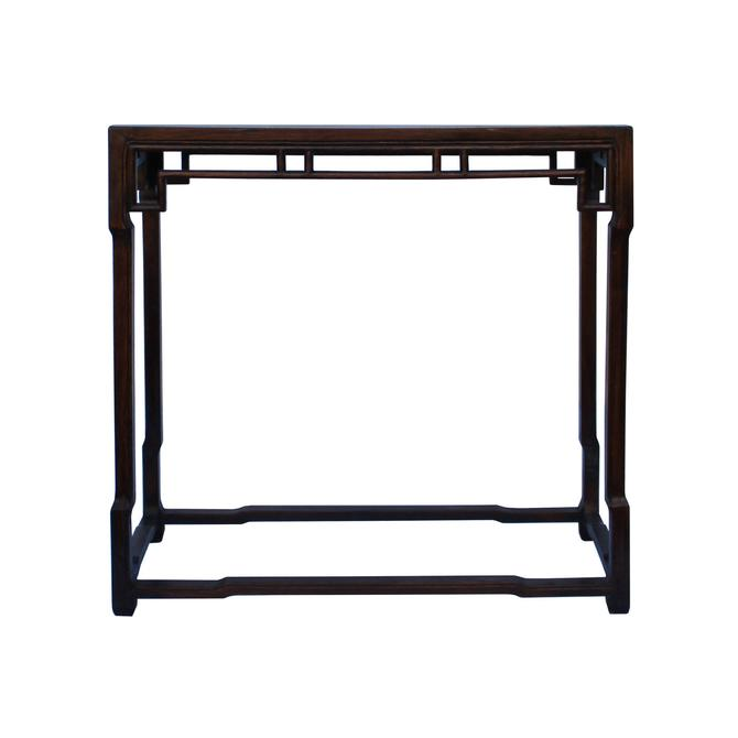 Chinese Brown Huali Rosewood Ming Style Apron Side Altar Table cs5354E by GoldenLotusAntiques