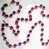 Vintage Swarovski Bezel Set Hot Pink Necklace and Bracelet by LegendaryBeast