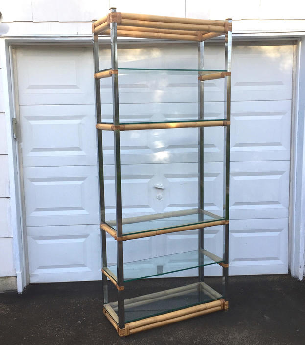 Boho Bamboo Etagere Bookcase by secondhandstory