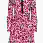 Kate Spade - Pink & Black Rose Print Silk Sheath Dress Sz 2