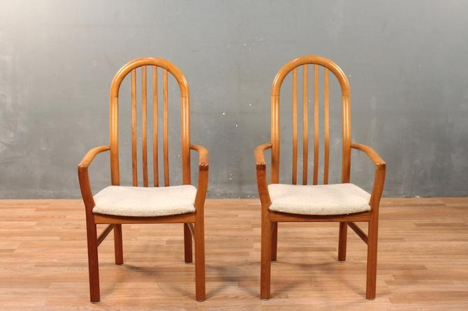 Danish Modern Teak & Wool Armchair – ONLINE ONLY