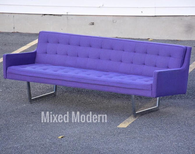 Modern Chrome & Purple Sofa by Patrician by mixedmodern1
