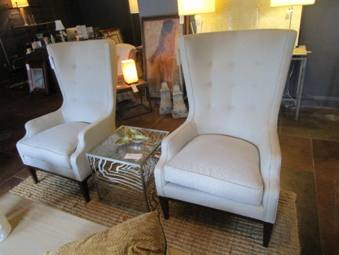 PAIR PRICED SEPARATELY BAKER CURVED BACK WING CHAIRS