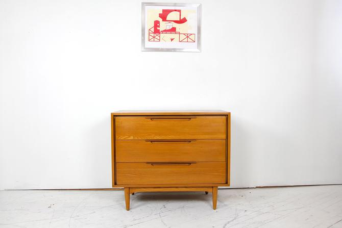 Vintage mcm small 3 drawer solid hickory dresser  #612 | Free delivery in NYC and Hudson areas by OmasaProjects