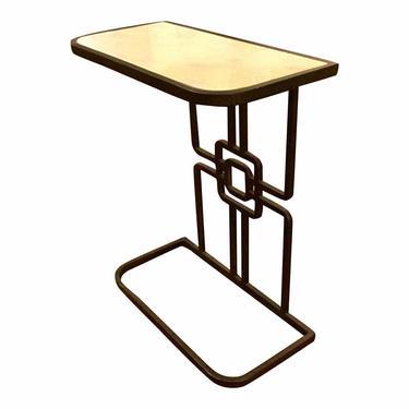 Gabby Gilbert Modern Geometric Iron Accent Table