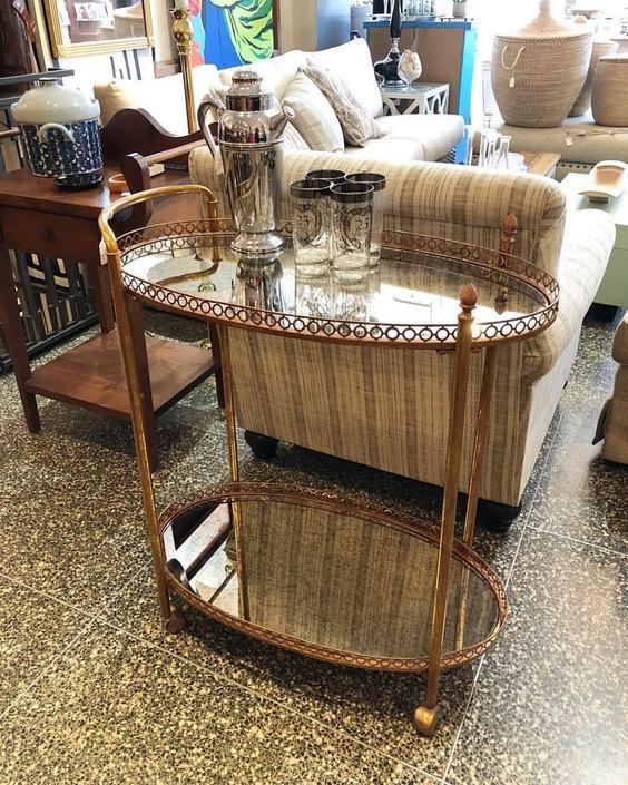 Glamorous bar cart! $250