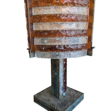 Brutalist Table Lamp by Albano Poli, Italy 1970