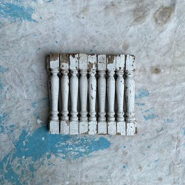 Antique Set of 19 Primitive Balcony Porch Spindles Midwest Architectural Salvage by NorthGroveAntiques