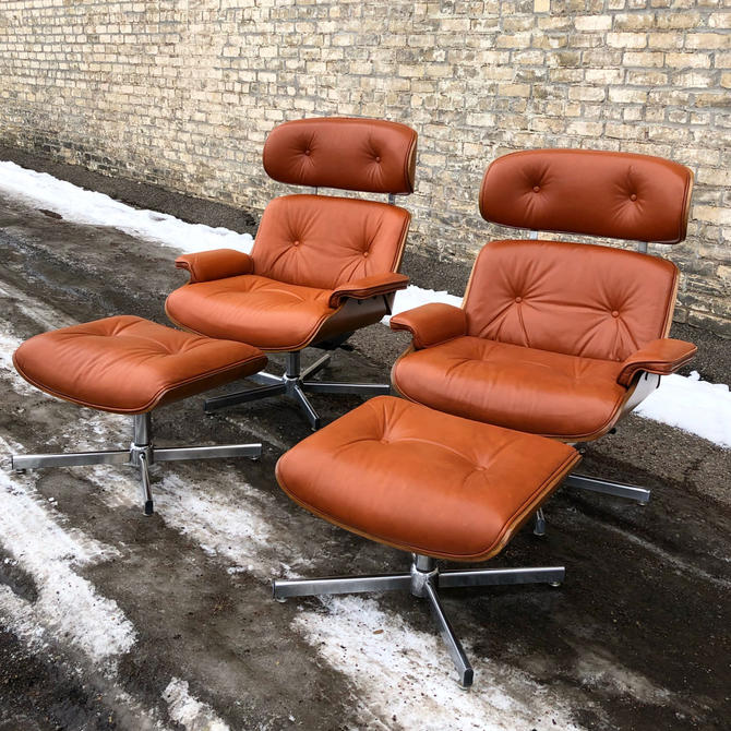 Vintage Eames-style Chair + Ottoman Sets