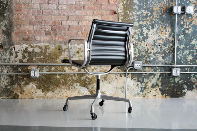 vintage eames aluminum group task chair from circa modern attic