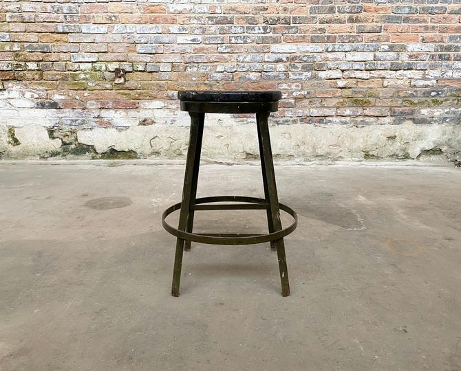 Vintage Industrial Factory Stool Rustic Restaurant Seating by NorthGroveAntiques