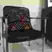 Cloth & Vinyl Mid Century Desk Chair