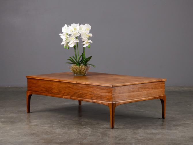 Mid Century Storage Coffee Table Walnut Rectangular by MadsenModern