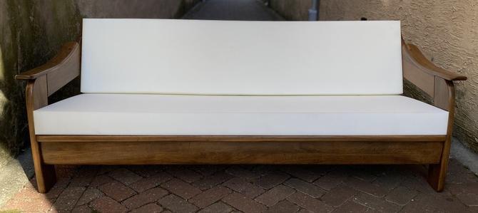 Oak Slope Arm Sofa