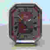 Swiza Small Quartz Brass Desk Clock with Brown Face by ilikemikes
