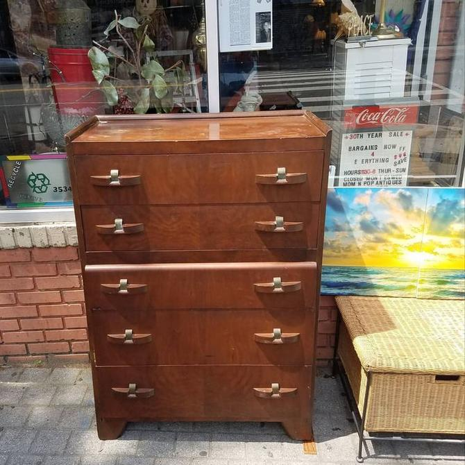 Late Deco 5 Drawer Chest, $250.