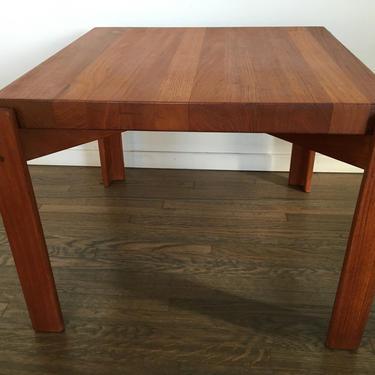 Danish modern teak reversible side table by Yngve  Ekstrom by MODN