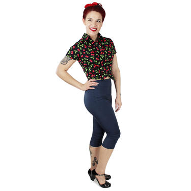 Cherries Knot Top XS-4XL by VintageGaleria