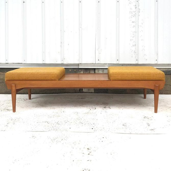 Mid-Century Two Seat Bench or Ottoman Coffee Table by secondhandstory