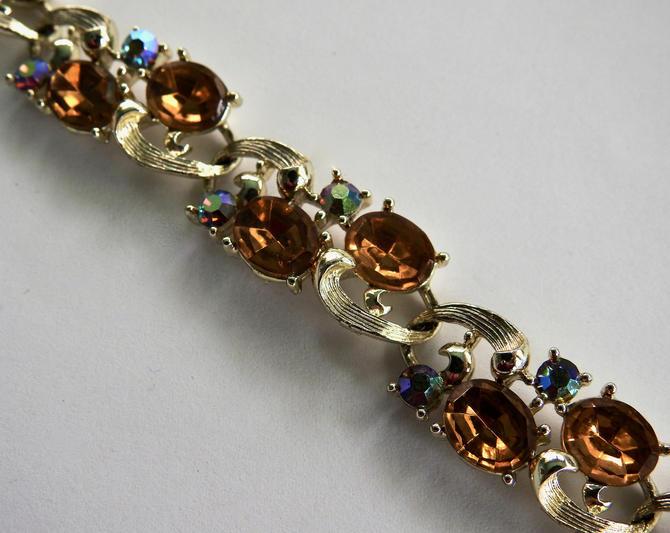 Lisner Yellow and Aurora Rhinestone Bracelet by LegendaryBeast