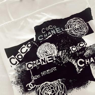 Vintage CHANEL CC Logo Monogram Graffiti Onsie One Piece Swim Suit Swimwear Bodysuit Shapewear - RARE! Xs S eu 38 by MoonStoneVintageLA