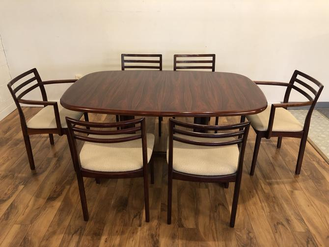 Danish Rosewood Dining Table & Six Chairs