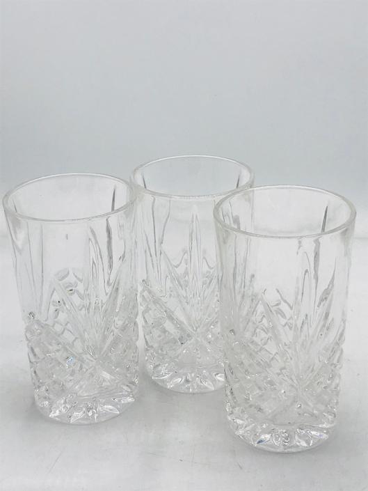 """Vintage set of (3) Godinger Shannon """"Dublin"""" Crystal Tumbler Glass - 10 oz - Set of 3 by JoAnntiques"""