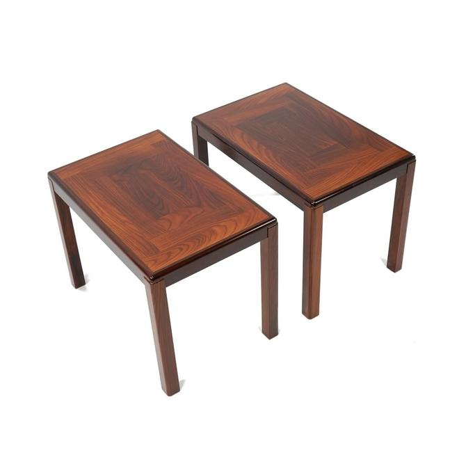 Pair Vejle Stole Mobelfabrik Rosewood End Tables