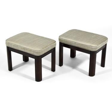 Pair of Gordon's Stools Upholstered in Silk