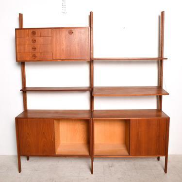 Mid Century Danish Modern Teak Wall Unit Hansen & Guldborg CADO by AMBIANIC