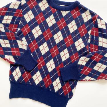 1970s Saks Fifth Avenue Argyle Sweater by waywardcollection