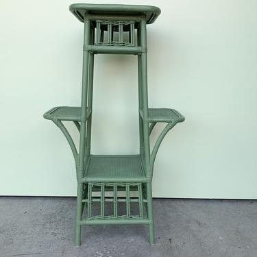 Sweet Green Rattan Plant Stand