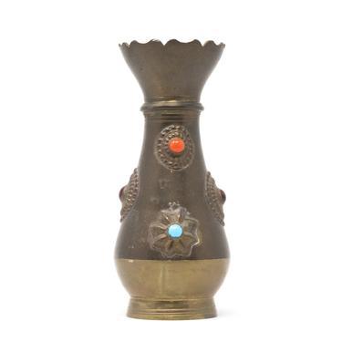 Vintage Brass Bud Vase, Decorative Vase by GreenSpruceDesigns